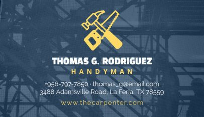 Handyman Business Card Template 491a