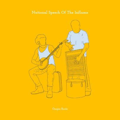 Illustrated Album Cover Maker for Folk Music 471e