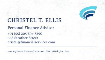 Simple Business Card Template for Financial Advisors 511