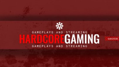Game Streaming Youtube Channel Banner Template 459