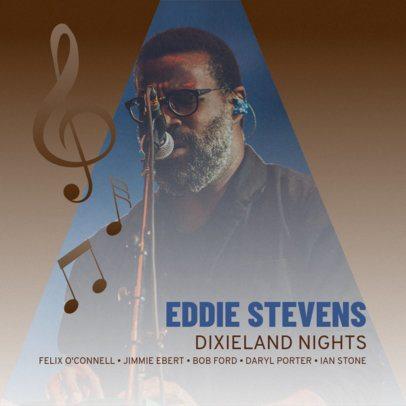 Album Cover Design Maker for Live Jazz CD #468e