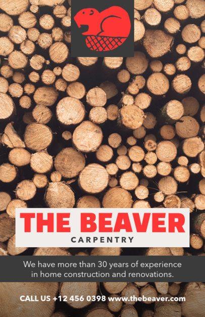 Carpentry Services Flyer Design Maker 492e