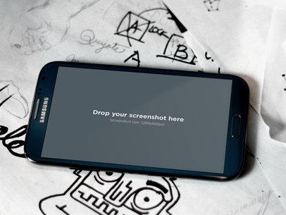 Black Samsung Galaxy Note Drawing
