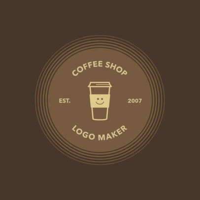 Coffee Shop Logo Maker with Coffee Grains 950e
