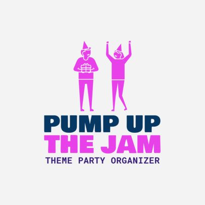 Logo Template for Theme Party Organizer 1334c