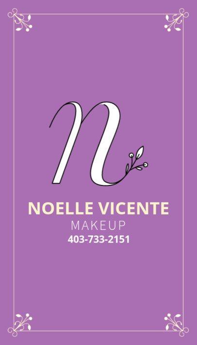 Business Card Template for Makeup Artist 485c