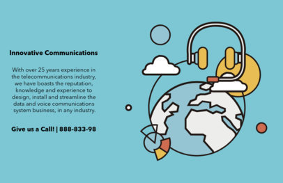Tech Communications Company Flyer Design Maker 514b