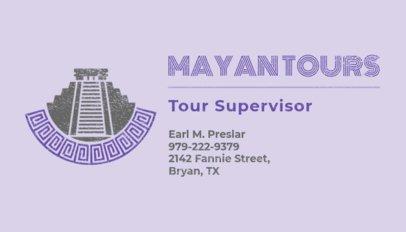 Business Card Maker for Travel Supervisor 487d
