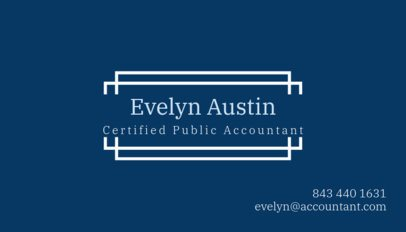 Public Accountant Business Card Template 259b