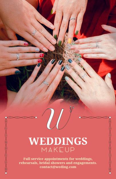 Wedding Makeup Flyer Design Template beauty flyer 486 b