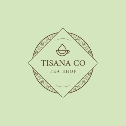 Tea Company Logo Design Maker 1344a