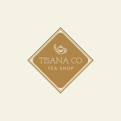 Neutral Tea Shop Logo Template 1344c