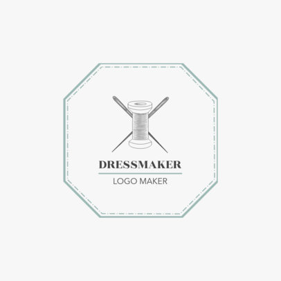 Minimalist Dressmaker Logo Template 1331c