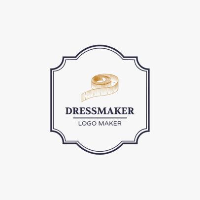 Logo Design Template for Classic Dressmaker Business 1331d