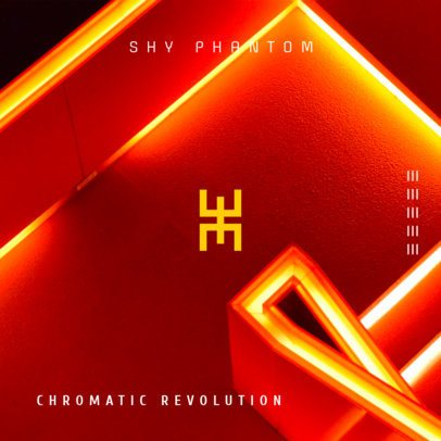Album Cover Template for Experimental Music Genre 474e