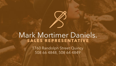 Business Card Maker for Apparel Sales Rep 503a