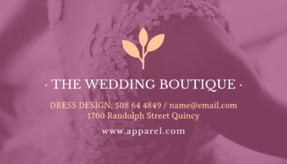 Business Card Maker for Wedding Boutique 503e