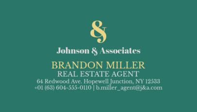 Business Card Template for Real Estate Brokers and Agents 499