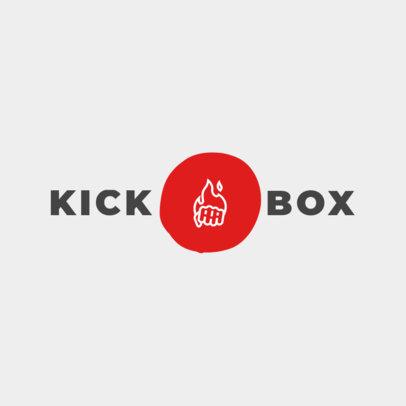 Kickboxing Gym Logo Maker 1297d