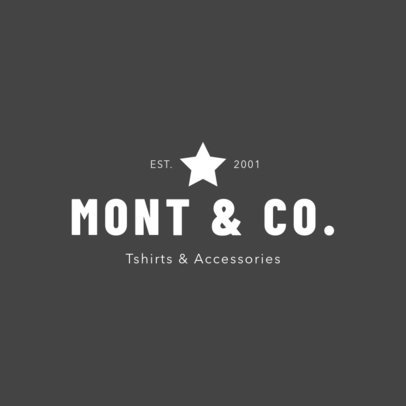 Logo Template for T-Shirts and Accessories 1329a
