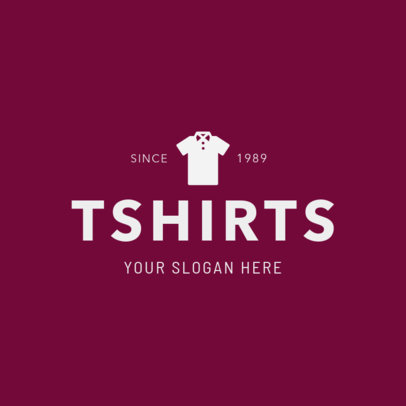 Simple T-Shirt Brand Logo Maker 1329b
