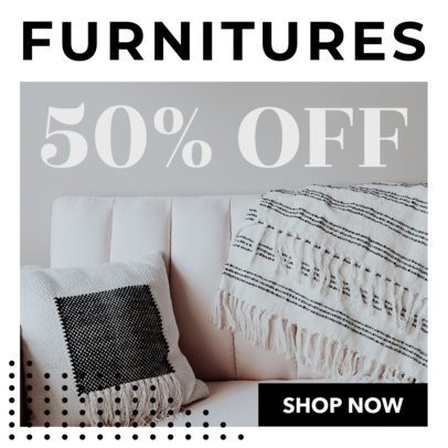Furniture Store Sale Ad Banner Template 530