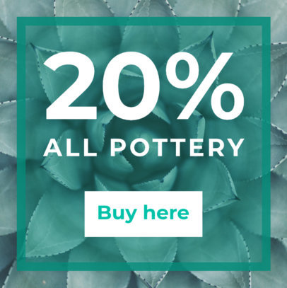 Banner Ad Maker for Plants and Pottery Store 532