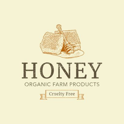 Organic Farm Products Logo Template 1378b