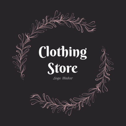 Vintage Clothing Store Logo Maker with Flower Garland 1084d