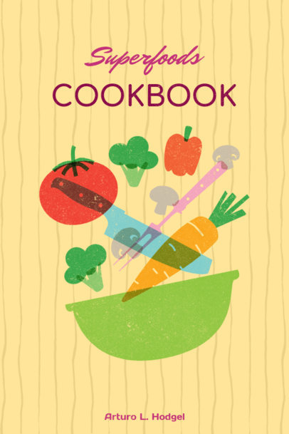 placeit cool cookbook cover template
