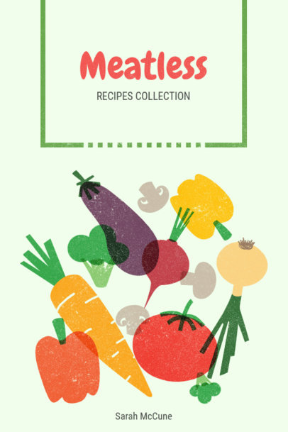 Book Cover Maker for Vegetarian Recipes 547c
