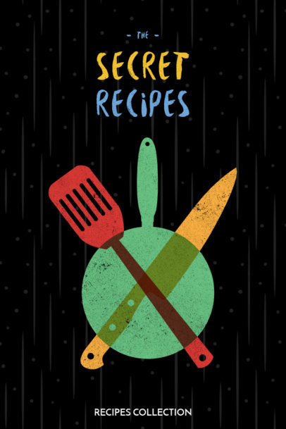 Cool Cookbook Cover Template 547d