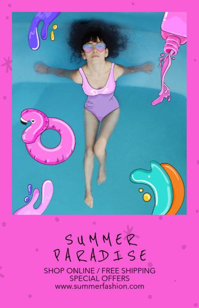 Summer Fashion Flyer Design Template 388b