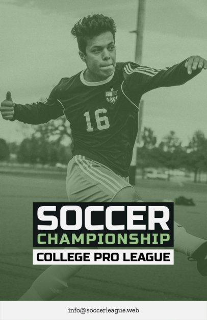 Flyer Maker for Soccer Games with Sport Images 129d