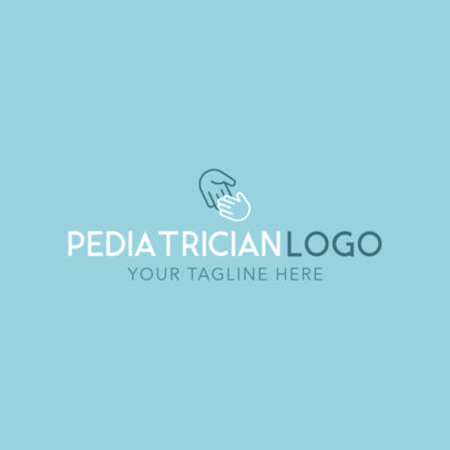 Simple Logo Maker for Pediatric Clinic 1366a