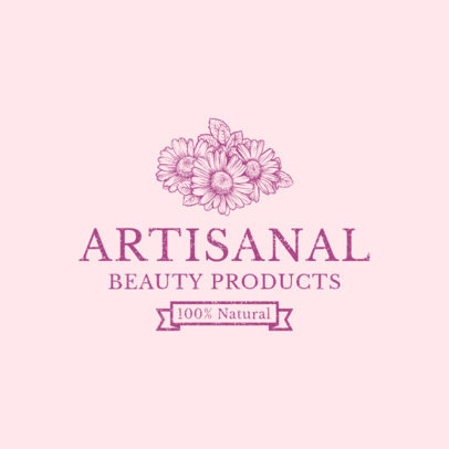Artisanal Beauty Brand Logo Design Maker 1192a