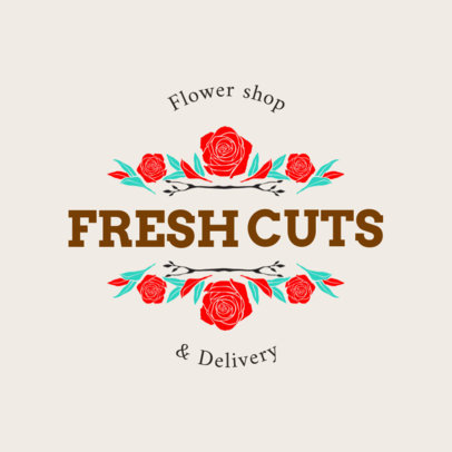 Logo Template for Flower Delivery 1335d
