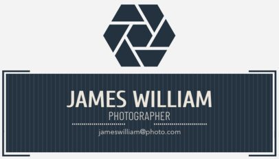 Social Photographer Business Card Maker 507a