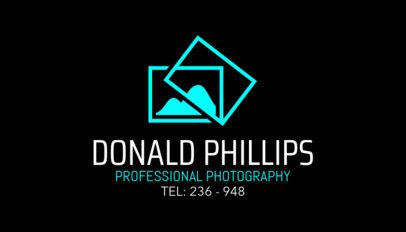 Professional Photography Studio Business Card Maker 507c
