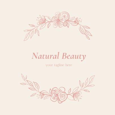 Makeup Brand Logo Maker with Floral Frame 1383b