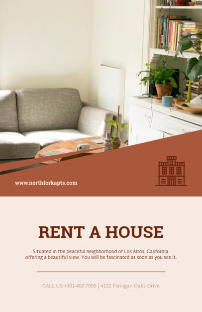 House for Rent Flyer Template 498a-1819