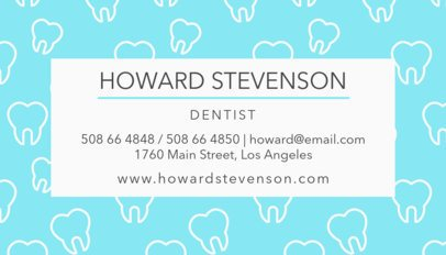 Dental Professional Business Card Maker 549