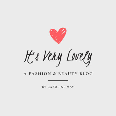 Beauty Logo Template for Bloggers 1408
