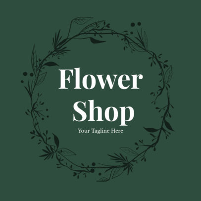 Flower Delivery Logo Maker with Leaves 1384d