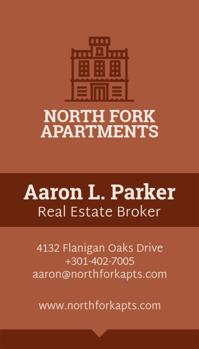 Real Estate Broker Business Card Template 497a