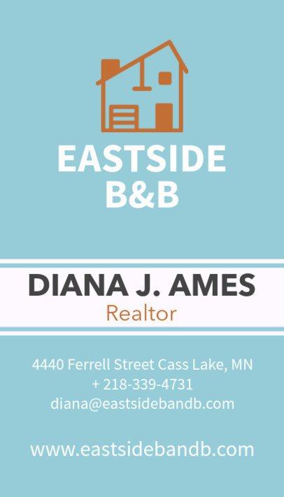 Creative Real Estate Agent Business Card Maker 497c