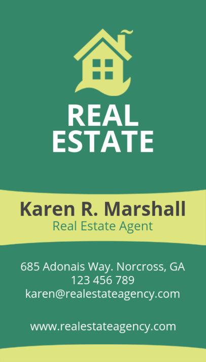 Online Business Card Maker for Real Estate Salesperson 497e