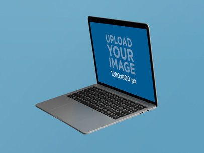 MacBook Pro Mockup Floating in a Side-View Position 22363