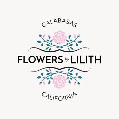 Cute Flower Shop Online Logo Maker 1335a