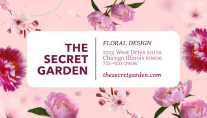 Business Card Template for Floral Designers 565